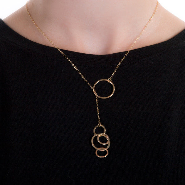 Bubble Lariat Necklace