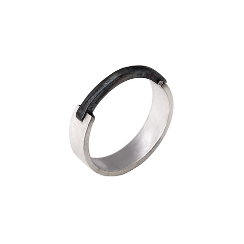 Ridge Ring (Sterling Silver)