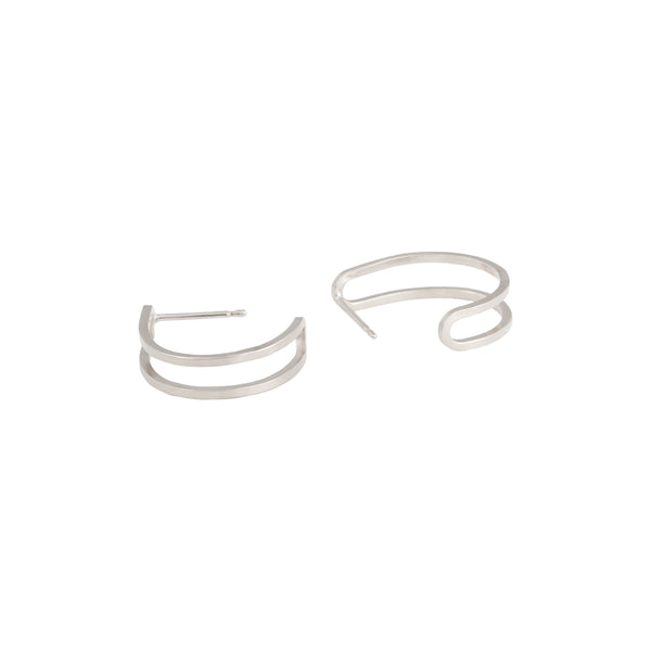 Link Dual Hoop Earrings