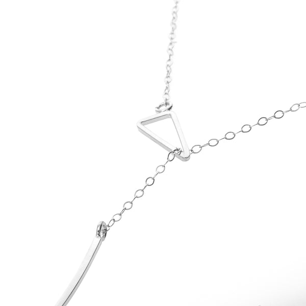 Zama Peek Lariat Necklace