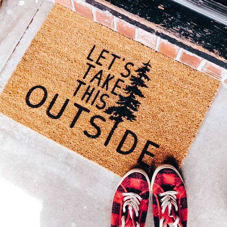 Let's Take this Outside Doormat