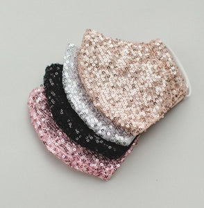 Sequin & Lace Face Masks