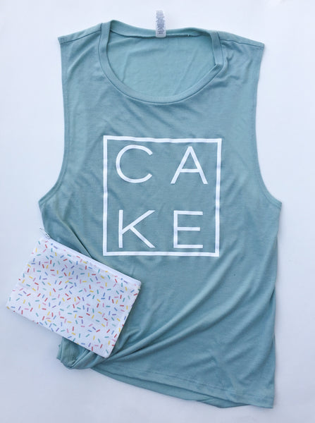 Couture CAKE Tank in Dusty Blue