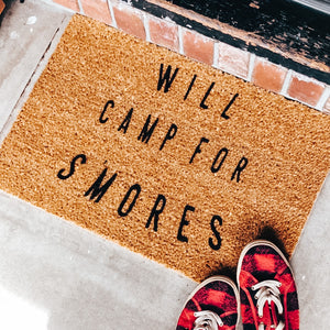 Will Camp for S'mores Doormat