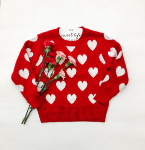 Heart Knit Sweater ~ Children's