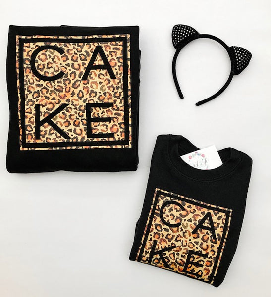 Kitty CAKE Crew Pullover ~ Adults