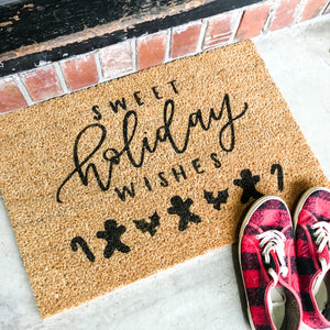 Sweet Holiday Wishes Doormat