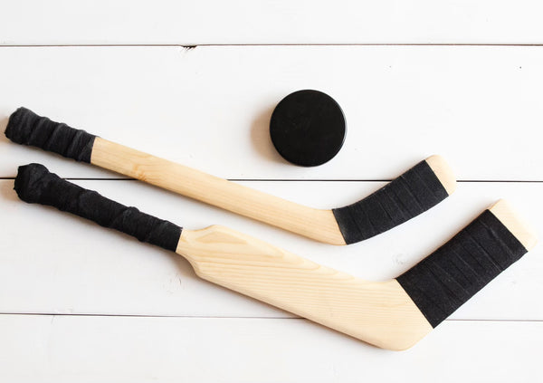 Wooden Play Hockey Sticks by BHive Woodworking