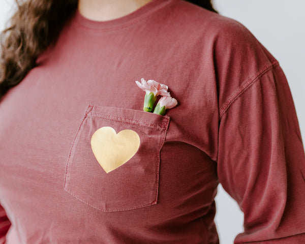 Heart of Gold Pocket Tee