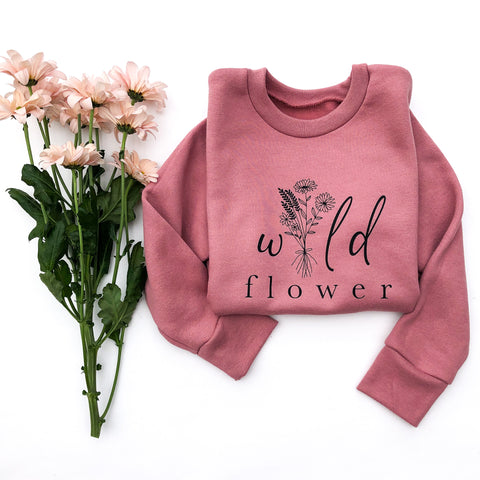 Wild Flower Crewneck Pullovers