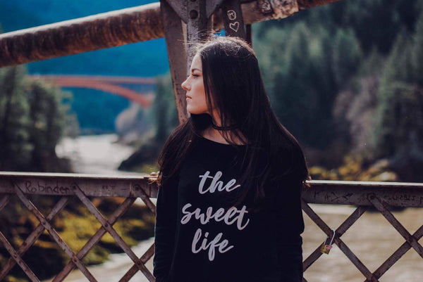 The Sweet Life Black Pullover