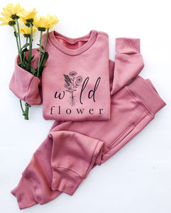 Wild Flower Crewneck Pullovers ~ Children's