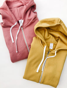 Rose + Gold Blank Basics ~ Adult Full Zip Hoodies