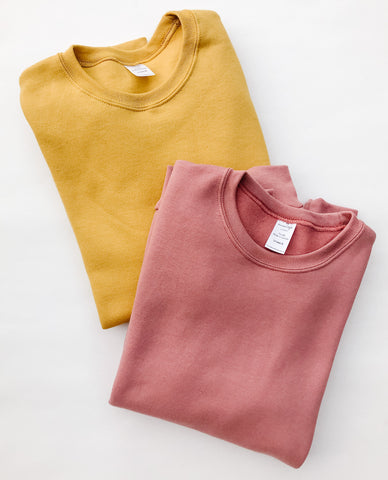 Rose + Gold Blank Basics ~ Adult Crewneck Pullovers