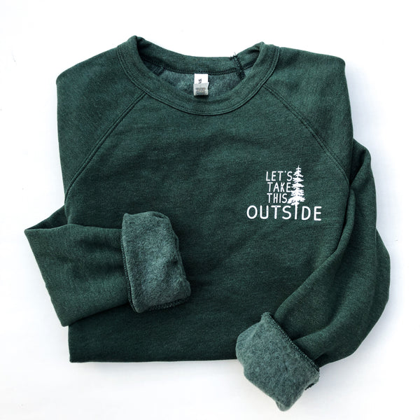 Let's Take this Outside Raglan Pullover