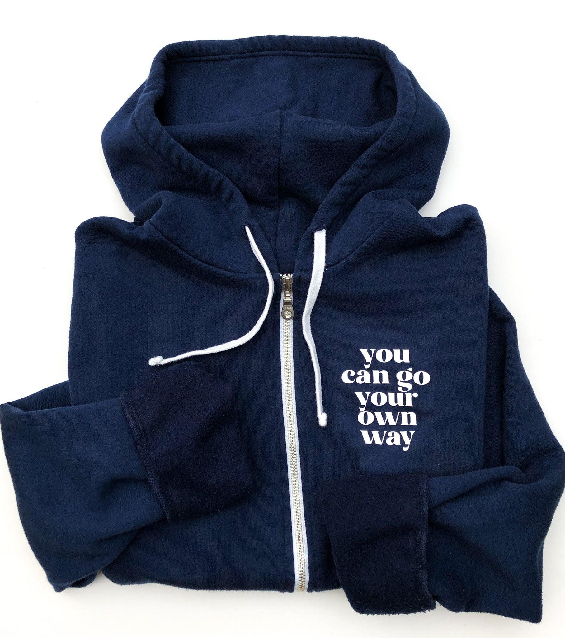 Go Your Own Way Retro Navy Hoodie