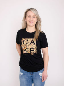 Kitty CAKE Tee ~ Adults