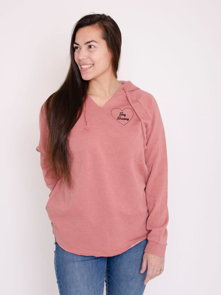 Day Drinking Dusty Rose Hoodie