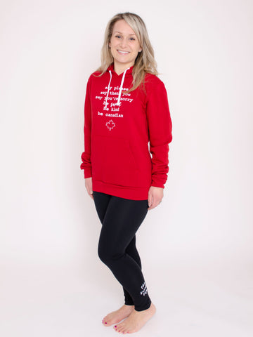 Be Sweet Be Canadian Hoodie ~ Adult Unisex