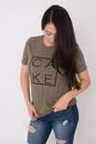 Couture CAKE Tee ~ Heather Olive