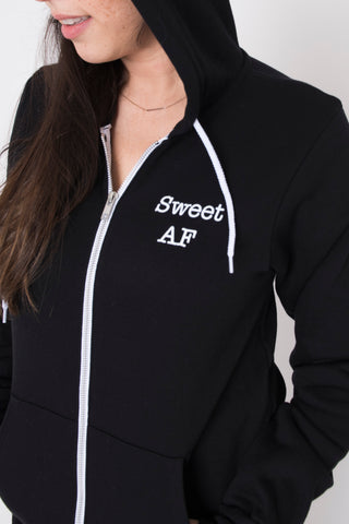 Sweet AF Zip Up Hoody