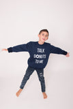 Talk Donuts Navy Pullover ~ Adults
