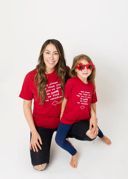 Be Sweet Be Canadian ~ Adult Tee
