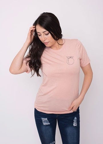 Peach Tee ~ New Adult Unisex