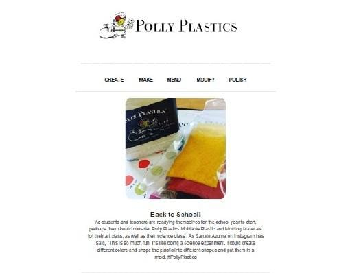 Polly Plastics Inspirational Newsletter - August 2019