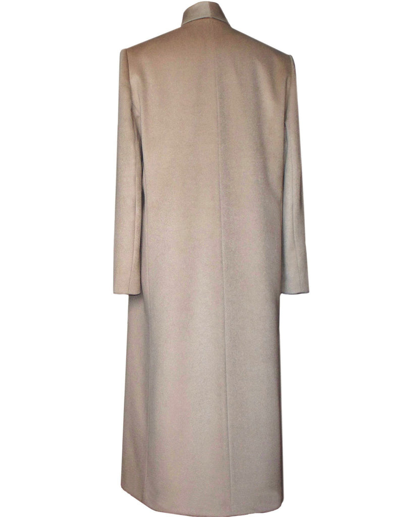 Camel coat back view
