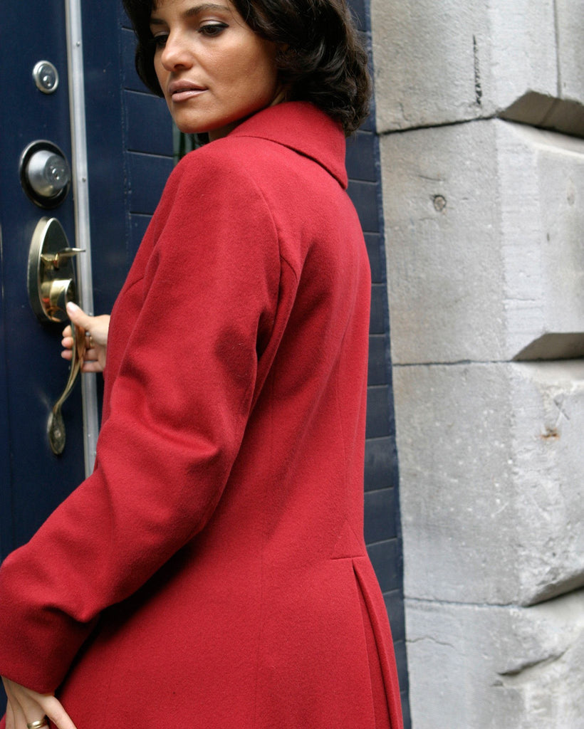 Cashmere coat back view