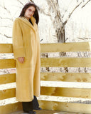 Cashmere coat with a hood