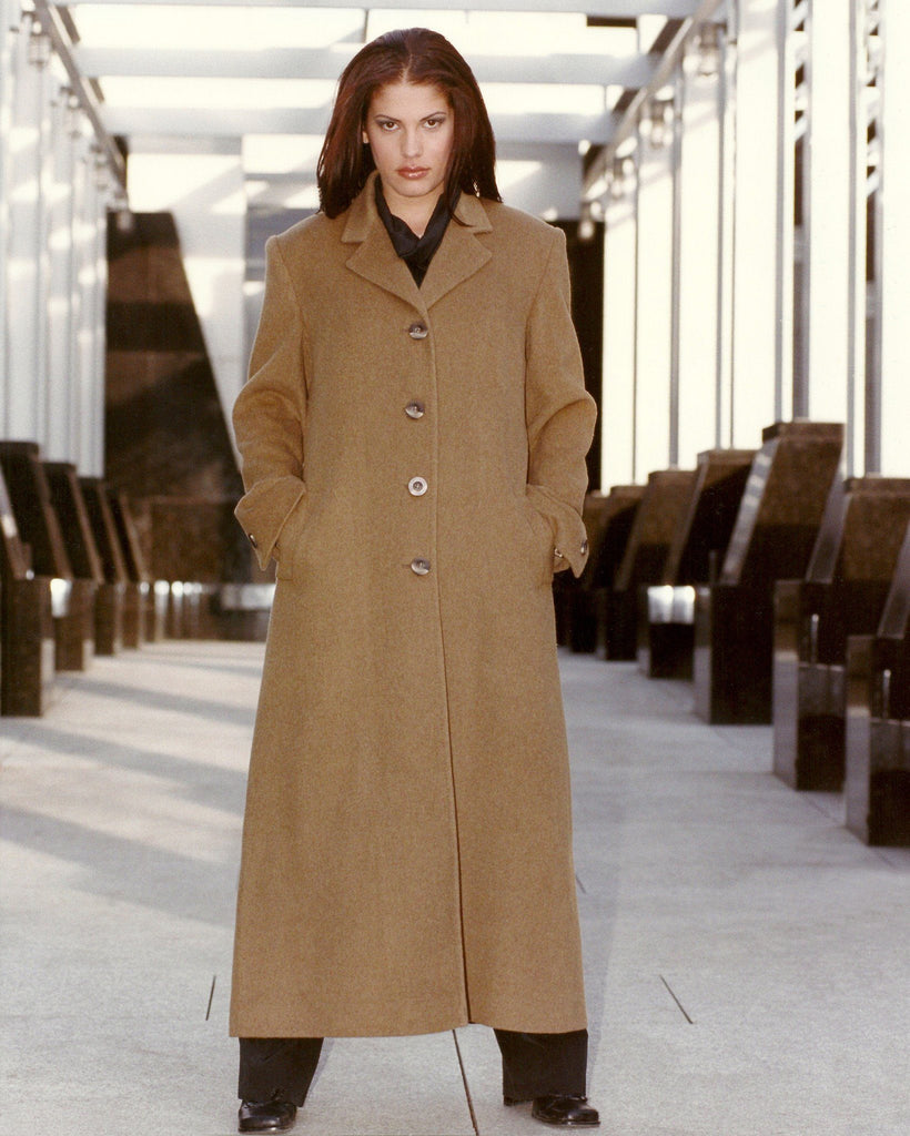 Single breasted cashmere coat