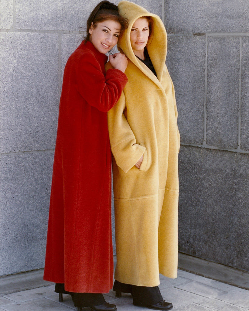 women's cashmere coat with a hood