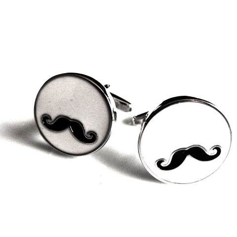 Mancuernillas de Bigote Redondo  - Red Box Fashion Accessories