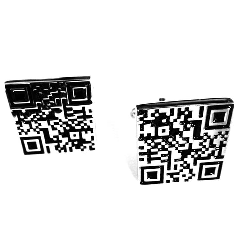 Mancuernillas de Código QR  - Red Box Fashion Accessories