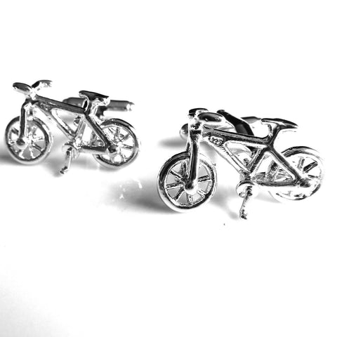 Mancuernillas de Bicicleta Plateada  - Red Box Fashion Accessories