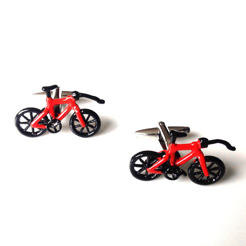 Mancuernillas de Bici Roja  - Red Box Fashion Accessories
