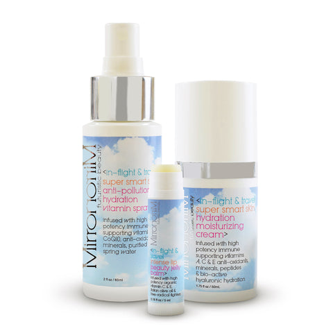 Mirror Mirror in-flight & travel 3 piece kit - spray, balm and cream