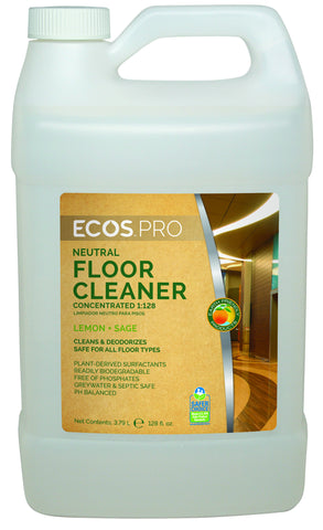 Floor Cleaner (PL9725/04), Earth Friendly ECOS Pro Product, 4 pk - gallon