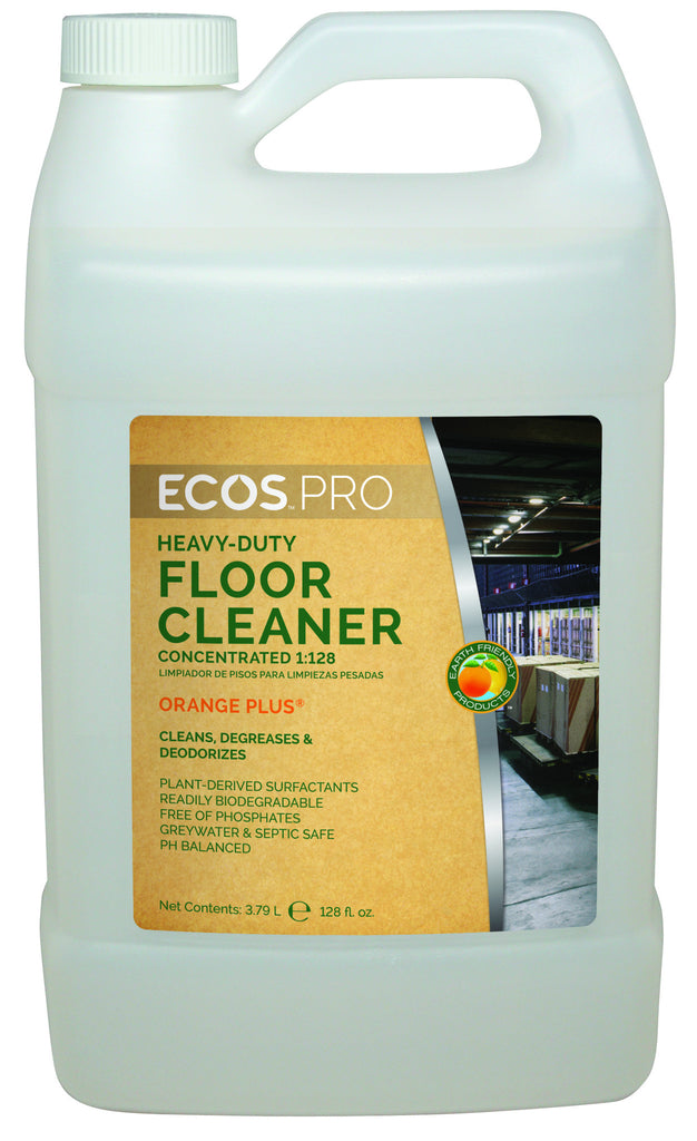 Heavy-Duty Floor Cleaner Concentrate - Orange Plus, Earth Friendly ECO PRO (4 pk - gallon)