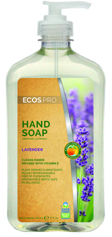 Hand Soap - Lavender (PL9665/6), Earth Friendly ECOS Pro, 6 pk - 17 oz pump