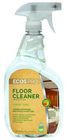 Floor Cleaner, Lemon Sage, Earth Friendly ECO PRO, 32 oz spray
