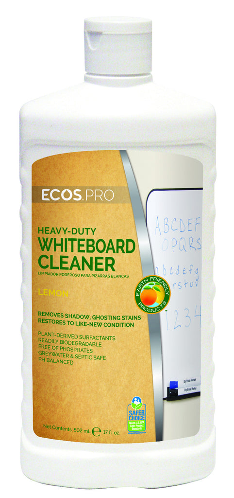 Heavy Duty Whiteboard Cleaner, Earth Friendly ECO Pro Product, 17 oz. Squeeze Bottle