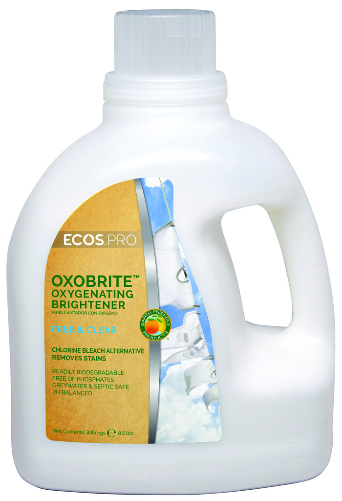 OxoBrite Oxygenating Whitener & Brightener - Free & Clear((PL9892), Earth Friendly ECO Pros 8.5 lb tubs (4/cs)