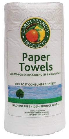 Eco Friendly Paper Towels, Earth Friendly ECO Pros Product, 2 ply 90/rls/24/cs