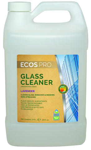 Glass Cleaner Concentrate (Lavender), Earth Friendly ECOS Pro Product (1 gallon)