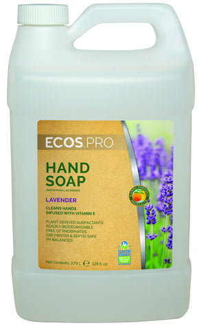 Hand Soap (Lavender), Earth Friendly ECOS Pro,  4 pk - gallon