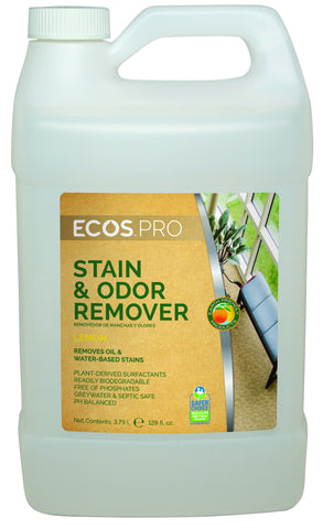 Earth Friendly Products ECOS PRO Stain & Odor Remover - Lemon, 1 gal (4/cs)