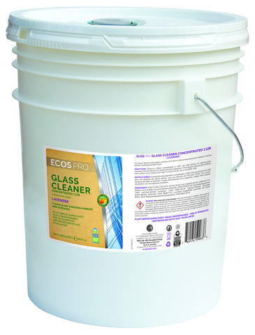 Glass Cleaner Concentrate (Lavender), Earth Friendly ECOS Pro Product (5 gallon)